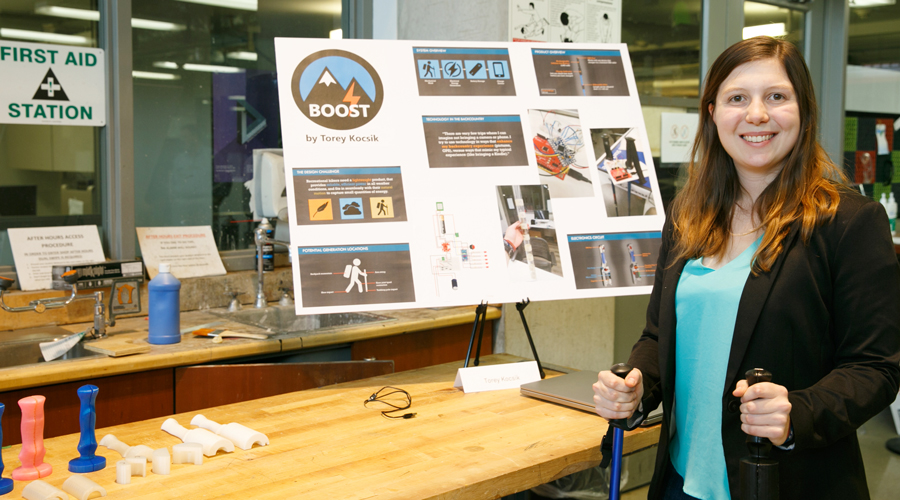 Boost is Torey Kocsik's solution to passively powering her electronic devices while walking in the backcountry.