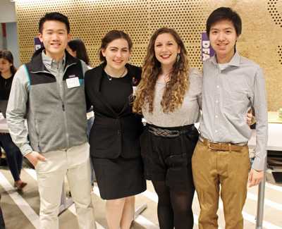 The VERA team (from left): Robert Luo, Eleni Dima, Ashley Jahren, Vincent Cheng